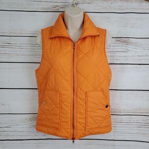 Peach Love Cali | Peach Color Quilted Zipper Vest